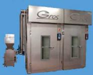 Komory wędzarnicze BV400, BV400/A, BV600, BV600/A - wędzenie dymem lub aerozolem, gotowanie na parze, pieczenie do 120C.