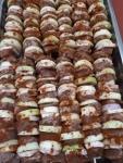 Szaszłyk wieprzowy z boczkiem, surowy